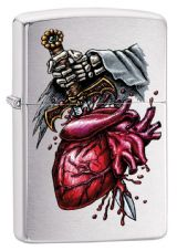 Brushed Chrome Goth Zippo Lighter